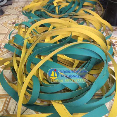 Đai dẹt xanh vang 1,2 mm (dây xanh vang 1.2 mm dây dai bản dẹt 1,5mm)