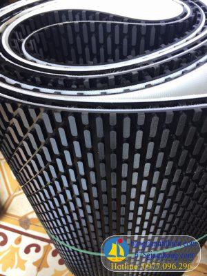 Băng tải hạt dưa cho máy nhám gỗ, nhám thùng màu đen dày 8mm