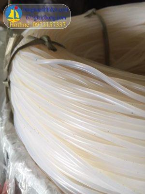 Silicone mét dài đăc đường kính từ 2mm, 3mm, 4mm, 5mm,… 10mm…20mm trắng chịu nhiệt