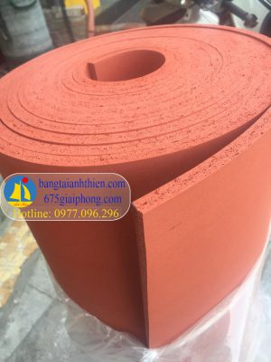 Mút xốp silicon màu đỏ chịu nhiệt dày 8mm, 10mm… 3mm,mm,5mm