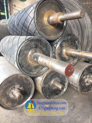 Ru lô D400 bọc cao su tạo nhám ca rô, dài 850mm cao su dày 20mm