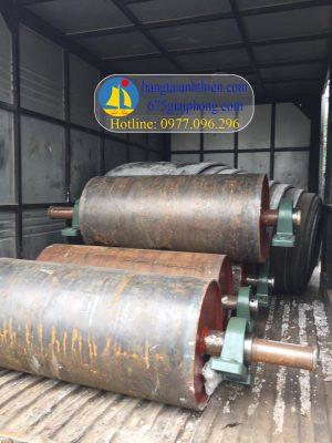 Ru lô chủ động D400x800, D400x850, D400x1000 cho khung băng tải cát đá