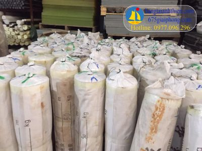 Gioăng silicon tấm trắng chịu nhiệt dạng cuộn 50-60 kg dày 1 đến 20mm