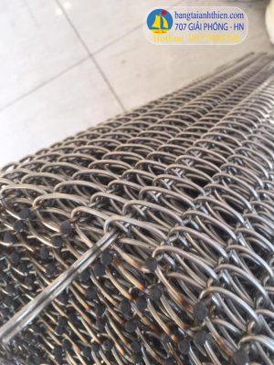 băng tải inox rông 500mm sợi 2mm bước lưới 12×20