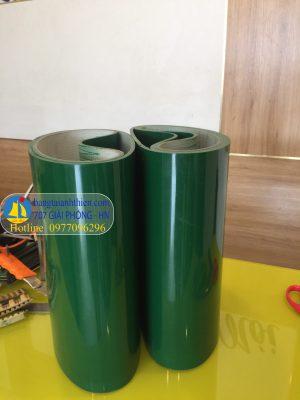 Băng tải PVC xanh dày 3mm bản rộng 300mm ,chu vi dài 640mm